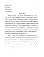 ERWC Animal Rights Essay - Huynh 1 Kimberly Huynh Ms Swanson CSU ...