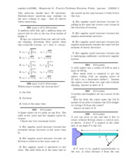 Homework 11 - Practice Problems; Rotation. Fluids