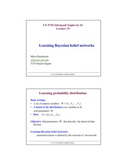 Lecture Notes O on Advanced Topics in Artificial Intelligence