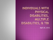(5)- Physical Disabilities and Traumatic Brain Injury (TBI)