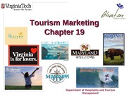 Chapter 19 Tourism Marketing