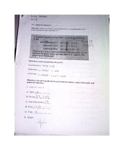 Worksheet 2 on Chapter 3.3 Pre-Calculus