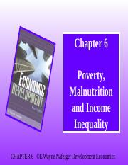 Ch 6 Poverty Malnutrition & Income Inequality