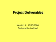 ProjectDeliverables-Fall2006.v4
