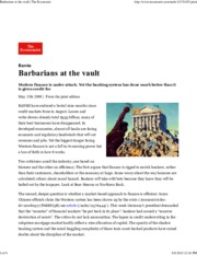 The Economist - Barbarians at the Vault