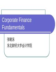 Chap000 Corporate Finance Fundamentals.ppt