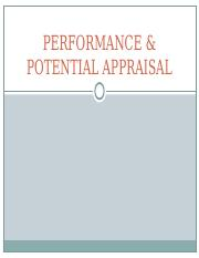 HRM - PERFORMANCE & POTENTIAL APPRAISAL.ppt