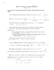 Math 5C Final Exam Ext Spring 2013 SOLUTIONS
