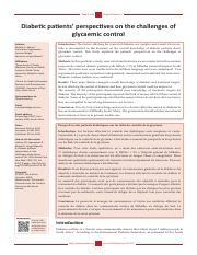 DM pt perspectives on challenges of glycemic control.pdf