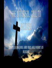 Universal Call to Holiness - Group Project PPT