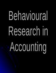 Behavioural research in accounting.ppt