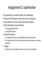 Assignment 2 submission guideline