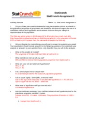 StatCrunch_Assigment 3