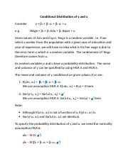 Lecture 4 Probability Distribution of y and u