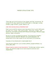 PAPER STRUCTURE TIPS.docx