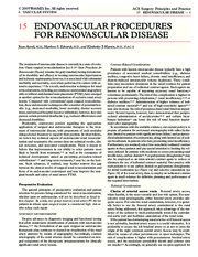 15 Endovascular Procedures for Renovascular Disease