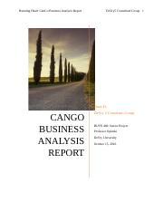 Cango competetive analysis week 6