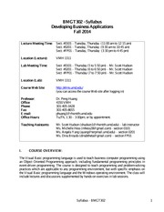 Syllabus - BMGT302 - Fall 2014
