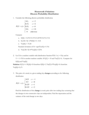 Homework 4 Discrete Probability Solutions