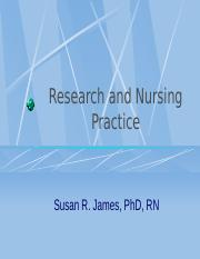 Research and Nursing Practice.ppt