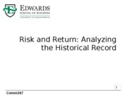 5 Return and Risk_Analyzing the Historical Record
