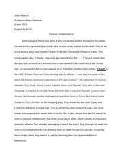 Weaver Essay #3 Fences