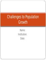 Challenges to Population Growth.ppt