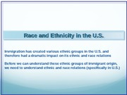 Lecture 17-Race and Ethnicity
