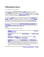 Philosophical theory