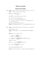 PHYS1112 Fall 2013 Homework 9 Solution