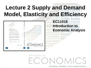 Lecture 2 Supply and Demand Model