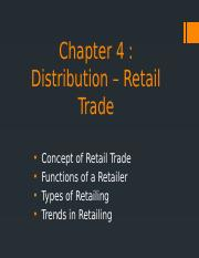 Chapter 4 Retailing