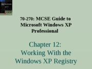 Windows Xp Professional Chapter 12