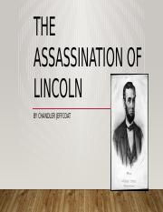The assassination of Lincoln