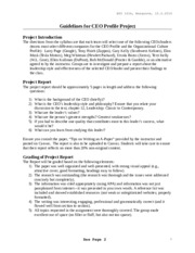 BUS161A - CEO Profile Guidelines, 10.5.2014