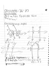 math classnote: Corresponding Angles