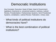 15 Political Institutions