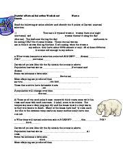 Natural Selection Worksheet Name