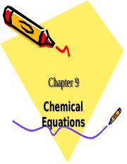 Chem C9 Chemical Reactions