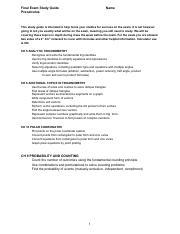 S2 Study Guide_ Honors Precalculus pdf - FinalExamStudyGuide