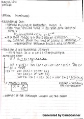 exponential distribution notes