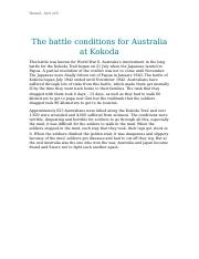The battle conditions for Australia at Kokoda.docx