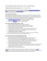 Literature Reviews  -Steps 7-9 Citing and Writing