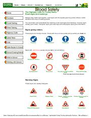 Road signs and markings