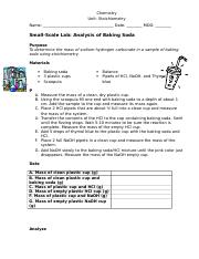 small scale lab Analysis of Baking Soda.doc