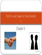 Chapter 5 Positive and negative relationships