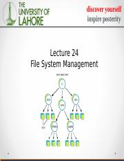 lecture 24 file systems.ppt