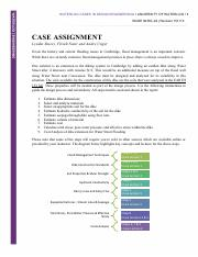 WCDE 02 Case Assignment