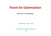 Microsoft PowerPoint - Fluent for Optimization