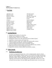 BUS 115 Chapter 7 The Essentials of Contract  and chapter 8.docx